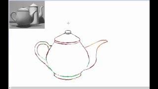HOW TO DRAW TEAPOT part 2  CIKGUBAD tutorial
