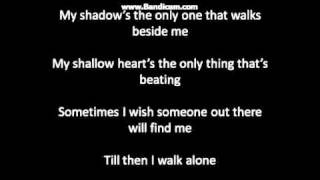 greenday- boulevard of broken dreams lyrics