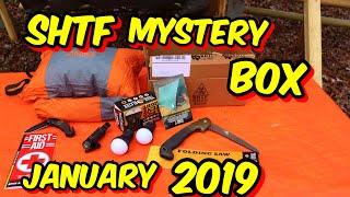SHTF MYSTERY GEAR SUBSCRIPTION  BOX , JANUARY 2019 UNBOXING