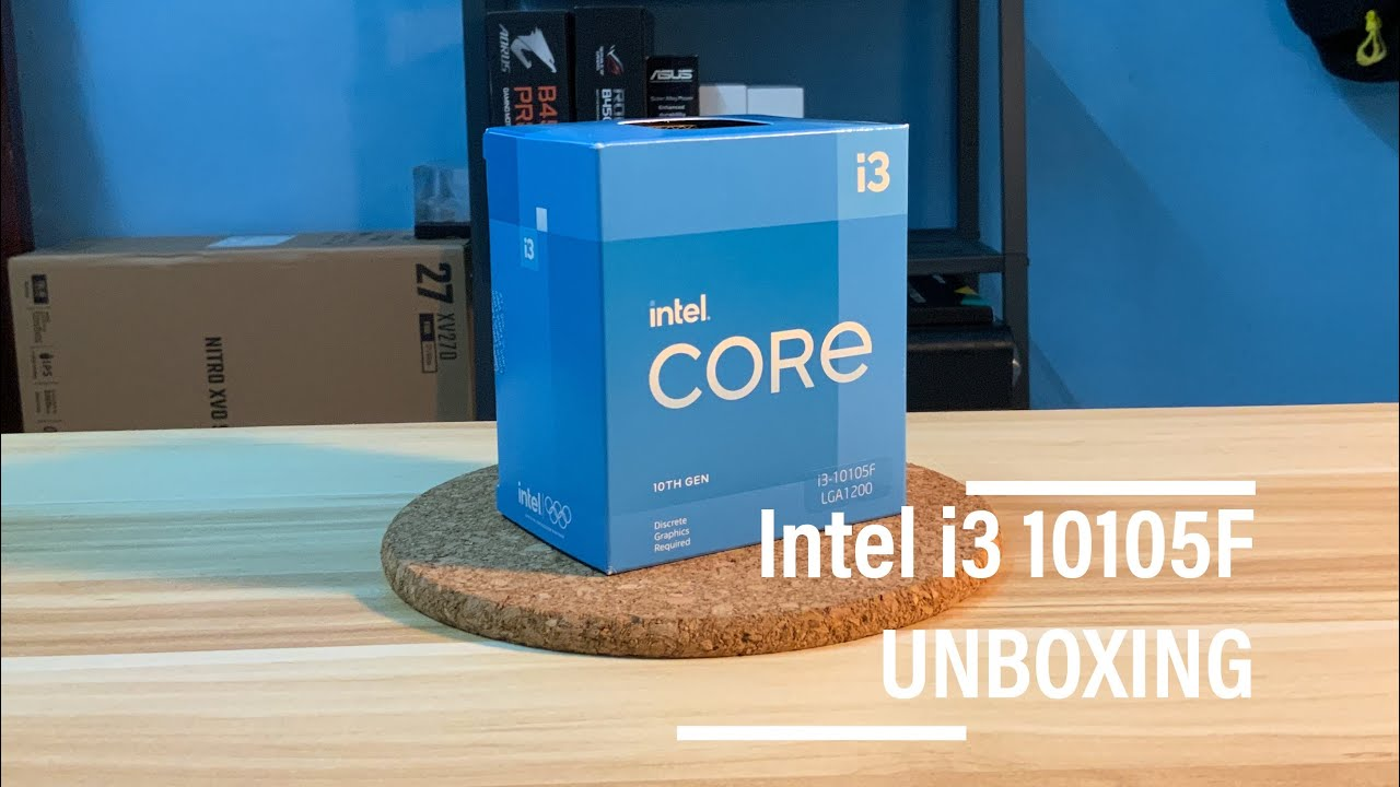 INTEL I3 10105F Unboxing First Look Budget CPU In 2021 - YouTube