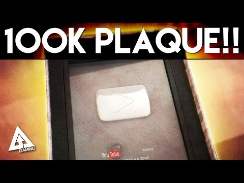 SILVER PLAY BUTTON! 100K Subscriber YouTube Plaque