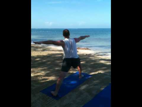 Yoga- Vinyasa to Warrior One and Warrior Two