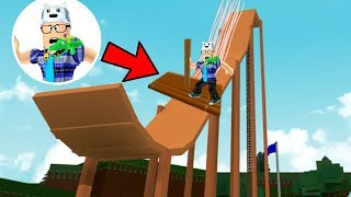 ROBLOX: TRY TO GET OFF AT THE GIANT RAMP WITH A BOAT!! -Play Old man