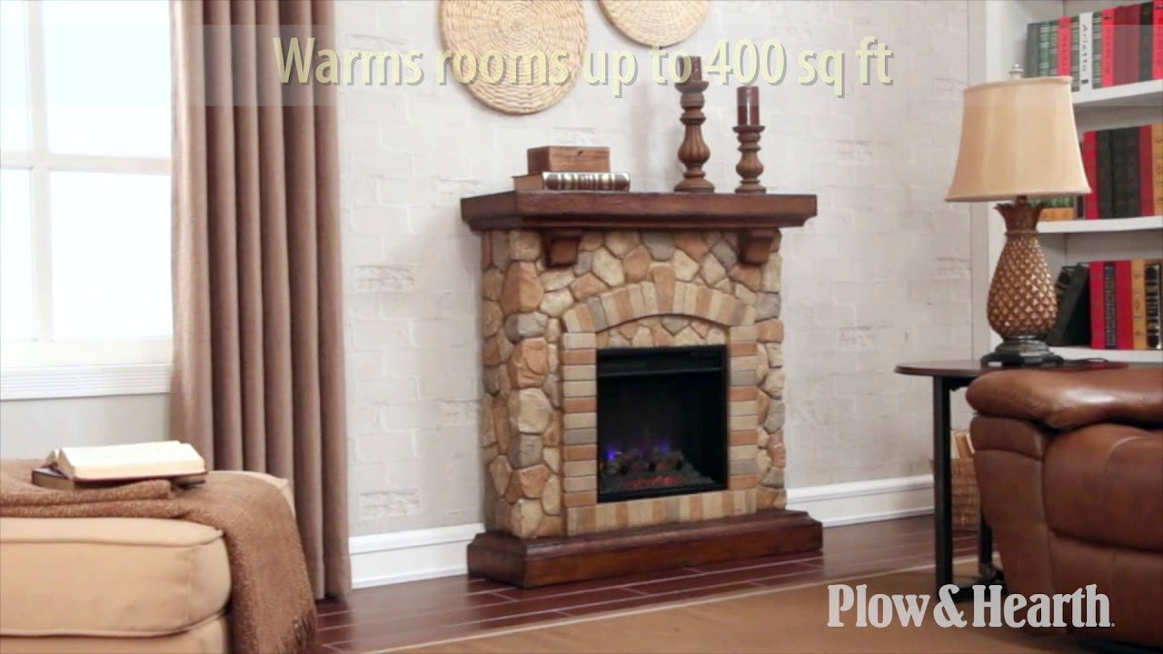 Stacked Stone Fireplace Sku Plow Hearth Youtube