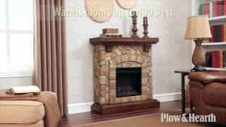 Stacked Stone Fireplace Sku# 14024 - Plow & Hearth