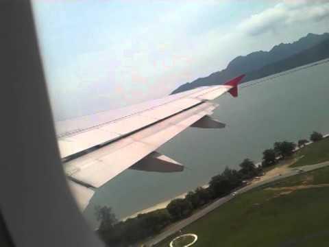 Air Asia AK 5329 LANGKAWI- KUL TAKE OFF แอร์เอเซียร์บินขึ้นสนามบิน ลังกาวี-กัวลาลัมเปอร์