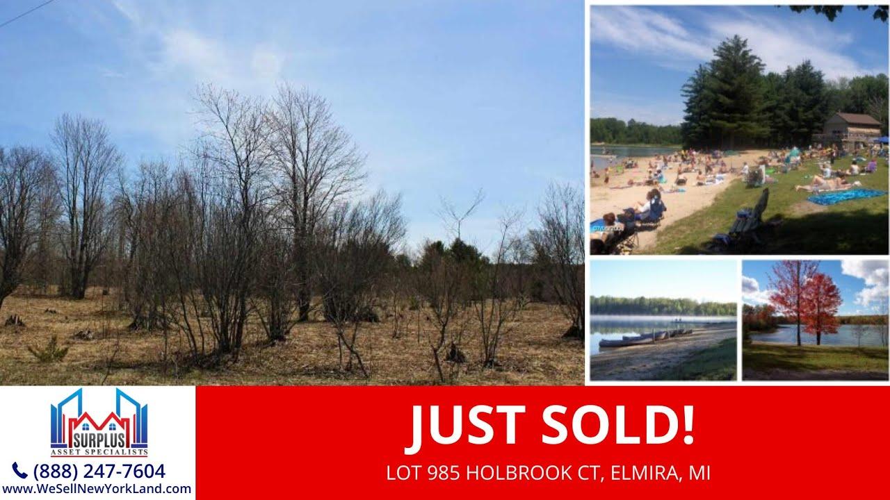 Just Sold By www.WeSellNewYorkLand.com - Lot 985 Holbrook Ct, Elmira, MI - Wholesale Land For Sale