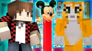 Minecraft: MICKEY MOUSE PEZ DISPENSER! Stampy