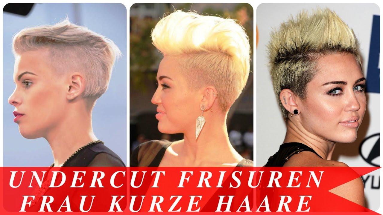 Undercut Frisuren Frau Kurze Haare YouTube