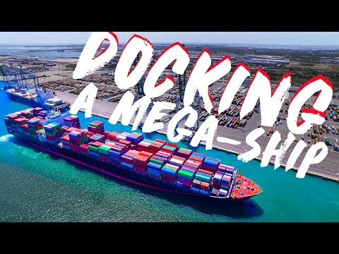 Docking a Mega-Ship | Mooring and Berthing Explained! | Life at Sea