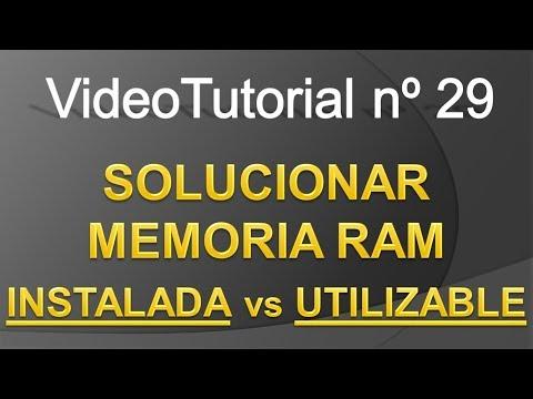 TPI - Videotutorial nº29 - Memoria RAM: INSTALADA vs UTILIZABLE & como SOLUCIONARLO fácil