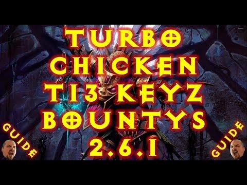 Diablo 3 WD HT Turbo Chicken! T13 Keys / Bounty Speed Gem Ups! 2.6.1