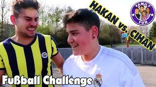 FUßBALL CHALLENGE CIHAN VS. HAKAN | REAL MADRID VS. FENERBAHCE | FAMILY FUN