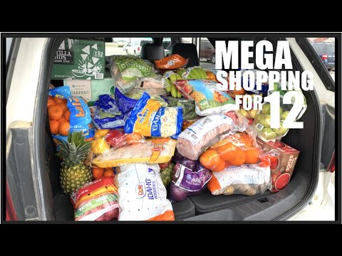 Once-A-Month GROCERY HAUL During PANDEMIC For Our Family Of 12!  Stocking UP!!!