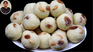 1kg ரவையில் 60 ரவா லட்டு தீபாவளிக்கு இதுபோல செஞ்சி பாருங்க | Rava Laddu | Sweet Recipes