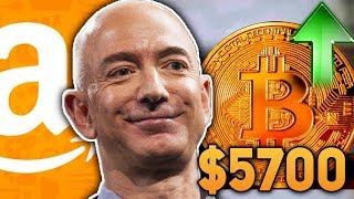 Почему Вырос Биткоин 5700$! Amazon Начал Принимать Биткоин! Огромный Рост Апрель 2019 Прогноз