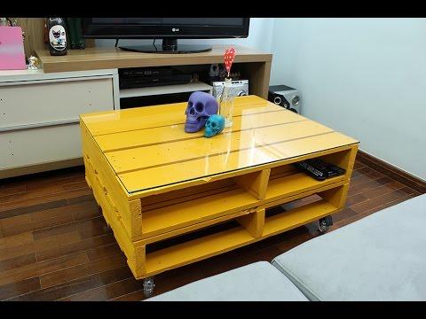 Fa a voc mesmo uma mesa de centro com palete youtube - Mesa centro palet ...