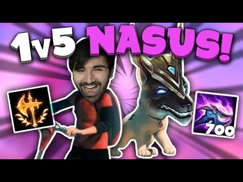 CONQUEROR NASUS 1v5 INSANE Q DAMAGE! - Voyboy (League of Legends) thumbnail
