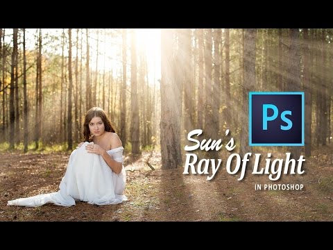 CREATE SUNS RAY of LIGHT (ROL) in PHOTOSHOP CC