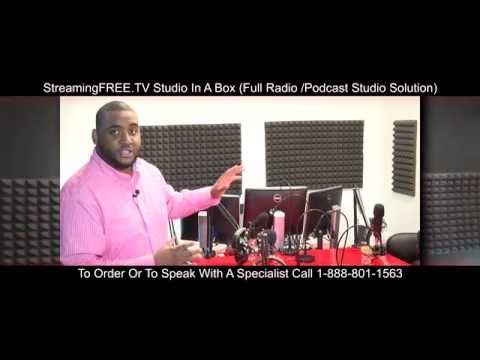 StreamingFREE.TV  Studio In A Box - How To Setup A Internet Radio Station / Studio