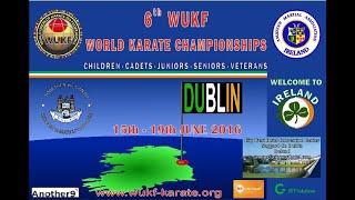 6th WUKF WORLD KARATE CHAMPIONSHIPS DUBLIN 2016 - DAY 2
