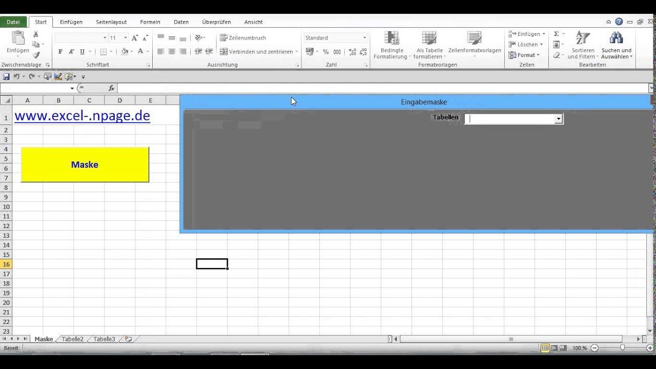 Datenbank Programm in Excel VBA selber erstellen 4. Aus Eingabemaske ...