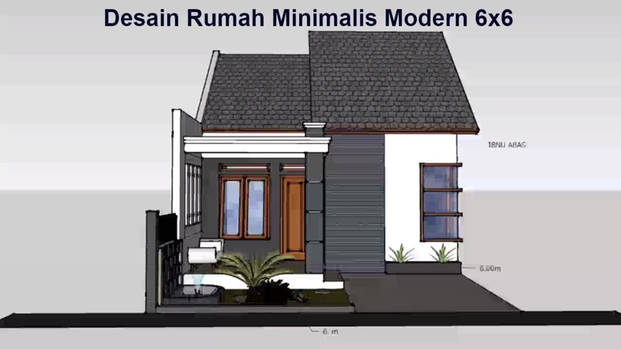 Desain rumah minimalis modern 1 lantai 6x6 Tapak Luar ...