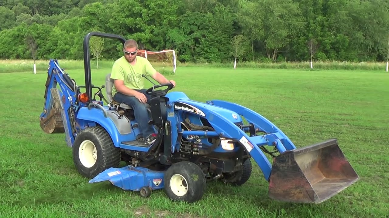 New Holland Tractor People : New holland tz da compact tractor with loader mower