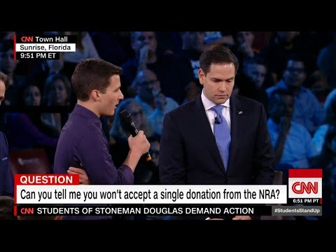 Teen Presses Sen. Marco Rubio on Donations From NRA