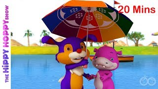 Top 5 Rainy Day Songs | Baby Songs | Hippy Hoppy Show