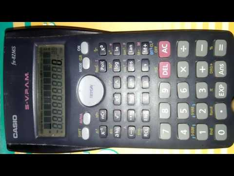 Storing values in CASIO Scientific Calculator