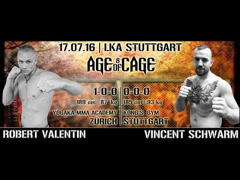 Robert Valentin vs. Vincent Schwarm | AGE OF CAGE 8 | [MMA Event Stuttgart]