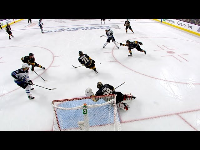 Marc-Andre Fleury makes game-saving stops on Mark Scheifele