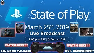 *Update FINALLY PSN NAME CHANGE! State of Play - PS5 Announcement? &  PlayStation Direct