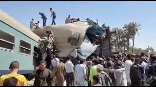 Столкновение пассажирских поездов в Египте
