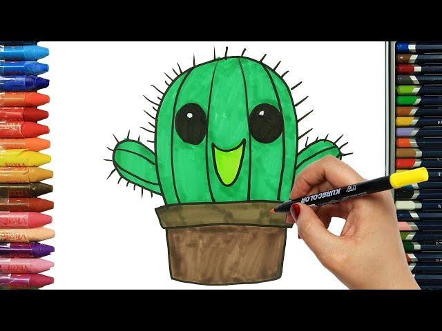 Jak narysowa? Kaktus | Rysunek | Kolorowanki dla dzieci | Rysowanie i kolorowanie