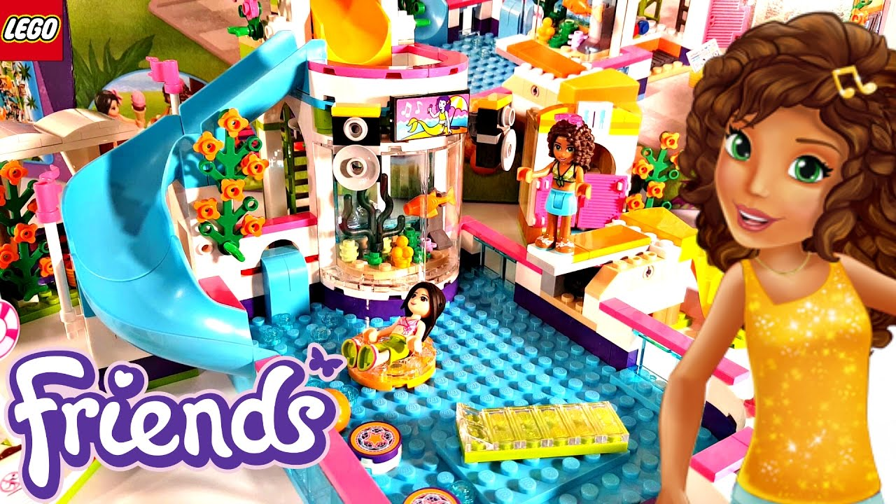 Lego friends heartlake summer pool 2017 building review for Piscina lego friends