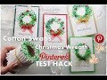 Cotton Swabs Christmas Wreath Painting Pinterest ART Hack Test ♡ Maremi's Small Art ♡