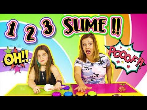 UN DOS TRES SLIME !! Slime Challenge | Juegos con Slime