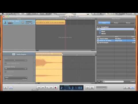 Garage Band mp3 Sampling Part 1