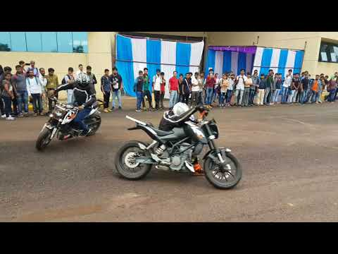 Bike stunts live performance  from itm university raipur