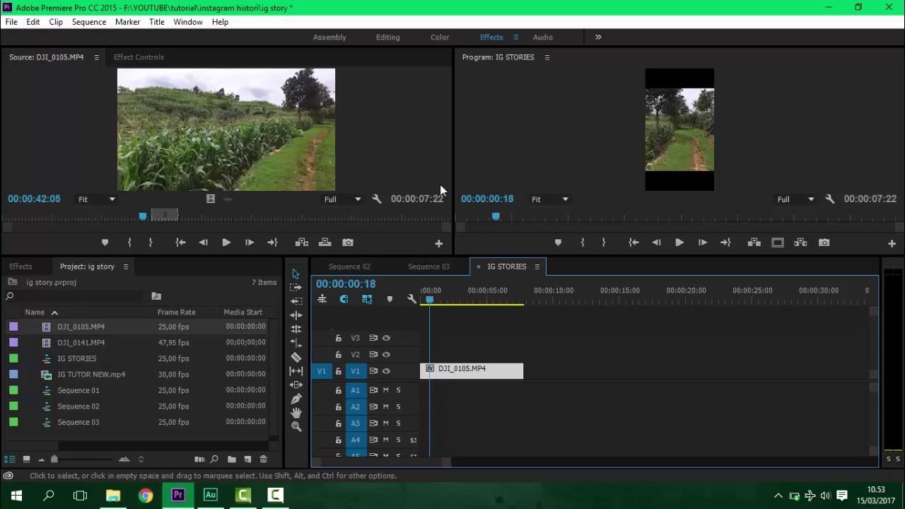 Cara Membuat Vertikal Video Adobe Premiere Pro Youtube