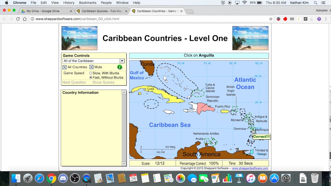 Sheppard Software Caribbean Sec YouTube - Sheppard software us map