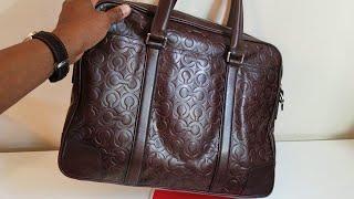 Coach OP ART Signature Embossed Rare Bleecker Slim Briefcase Reviewed
