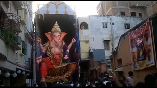 The Ganesh statue fell on worshippers during Immersion Day festival