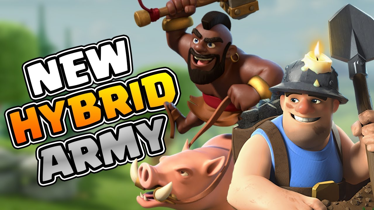 NEW Hybrid Army for PUSHING in Legend | BEST TH 13 tactics | #clashofclans