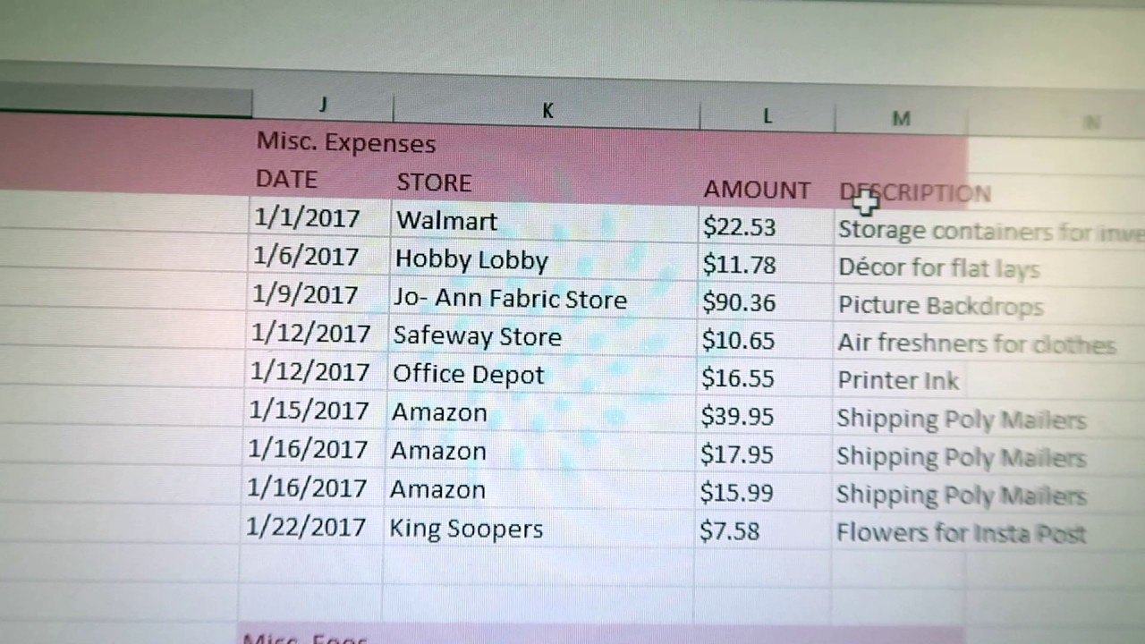 Ebay Spreadsheet How I Track My Income Expenses