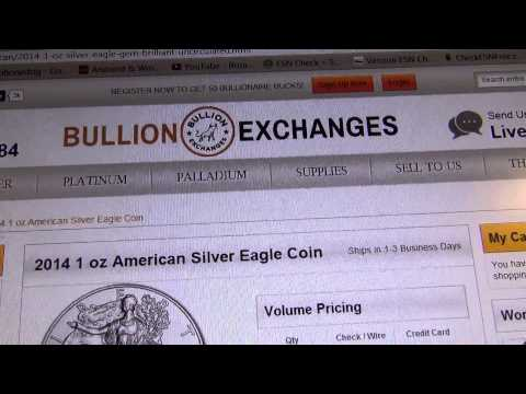 Online Bullion exchanges (coin shops/ dealers) reviews