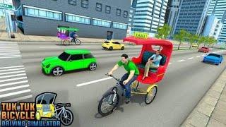 Bicycle Tuk Tuk Auto Rickshaw : New Driving Games screenshot 2