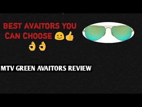 f85372666aea GREEN MTV AVIATOR GLASSES UNBOXING!!! GREAT AND DURABLE SHADES ...